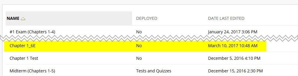 Your test is ready to be deployed in your course. Deployed means that you have added it to your lessons.