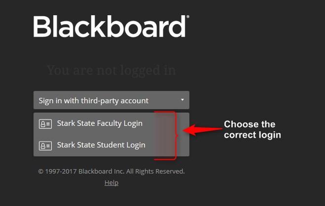 Choose the correct login