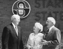 Don and Pauline Colaner with then Stark State President, Dr. John McGrath