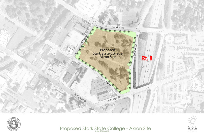 Kent State Stark Campus Map.Stark State College Akron Site Announced Stark State College