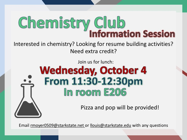 chemistry club info session