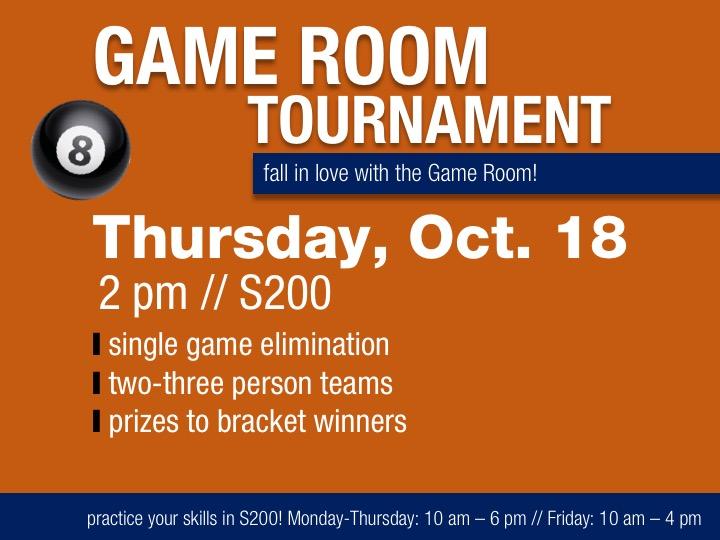 Game Room Tournament