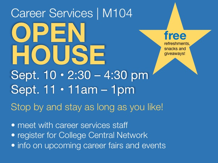 Career Services open house