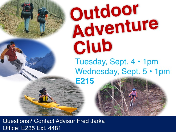 Outdoor Adventure Club meeting