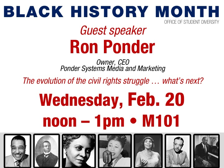 Black History Month // guest speaker
