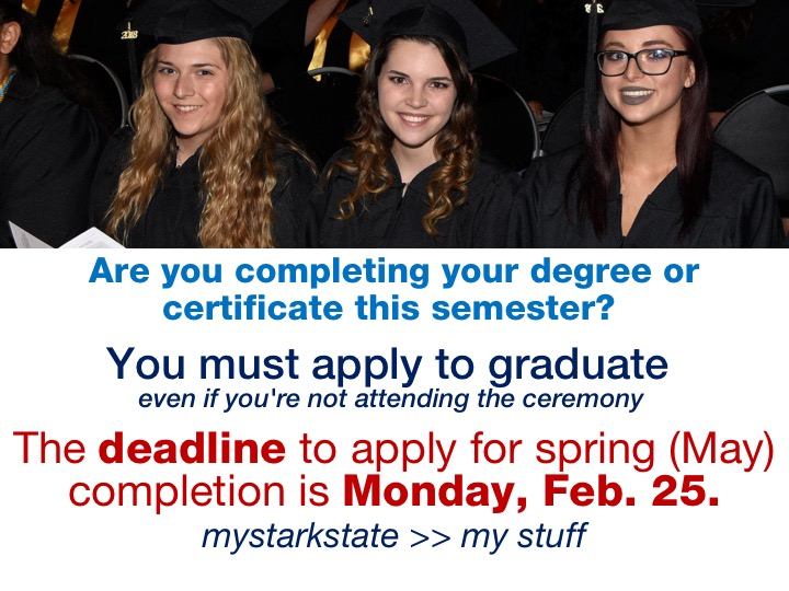Graduation applications due