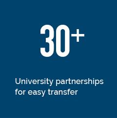 30+ university transfer partners