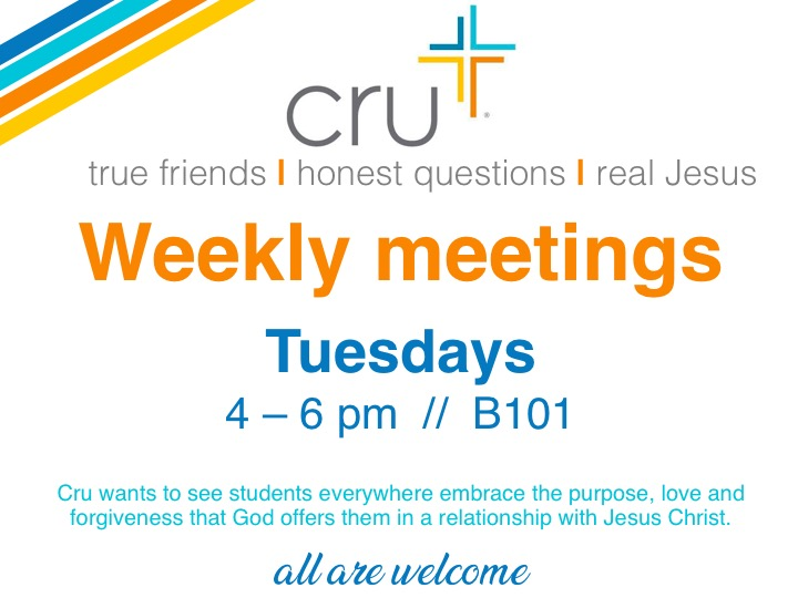 Cru meeting @ main campus