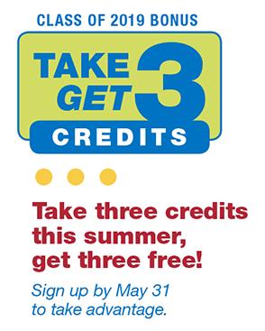take 3 get 3 credits free