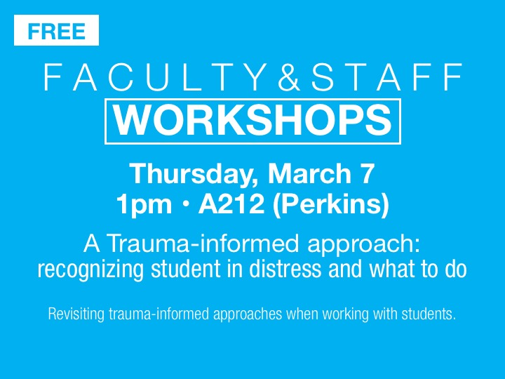 Faculty/staff workshop - a trauma informed approach @ Stark State College Akron (A212)