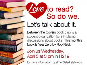 Between the Covers book club meeting @ main campus (H219)