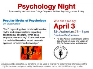 Psychology night @ main campus (Silk Auditorium)