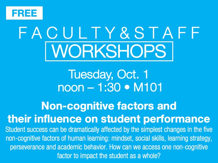 Faculty/staff workshop @ main campus | M101