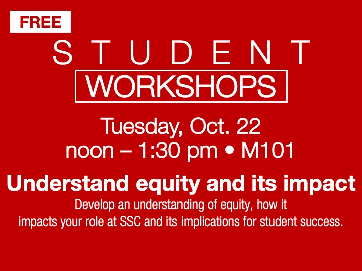Student Workshop | Understanding equity @ main campus | M101