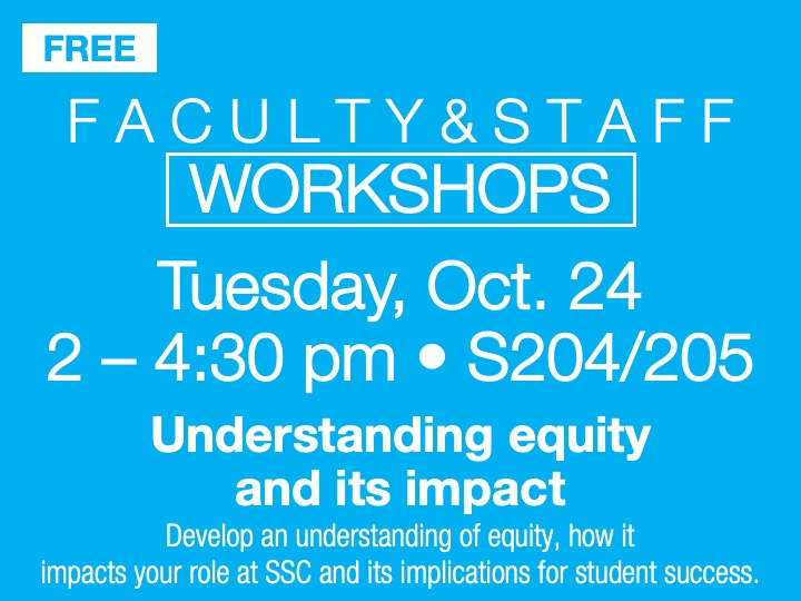 Faculty/staff workshop @ main campus | S204/205