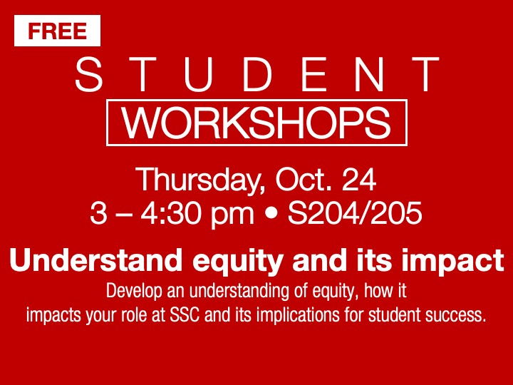 Student Workshop | Understanding equity @ main campus | S204/205