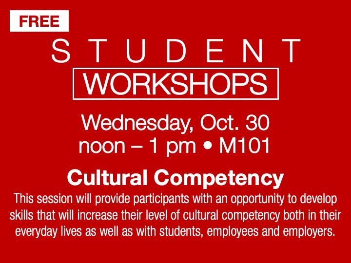 Student Workshop | Cultural competency @ main campus | M101