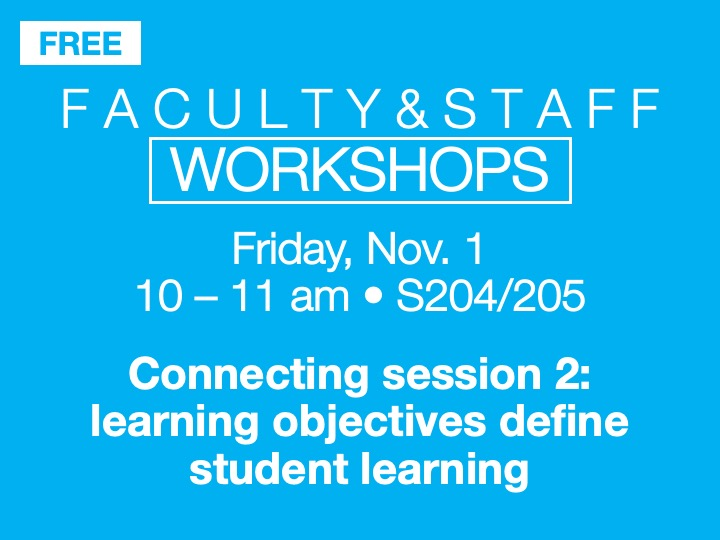 Faculty/staff workshop @ main campus | S205/205