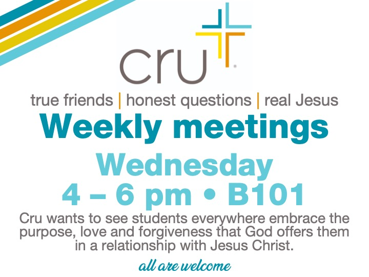 CRU meeting @ main campus | B101