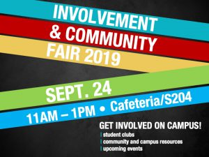 Involvement & Community Fair @ main campus | cafeteria and S204