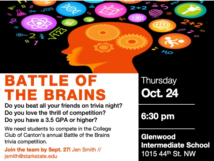 Battle of the Brains @ Glenwood Intermediate School 1015 44th St. NW, Canton