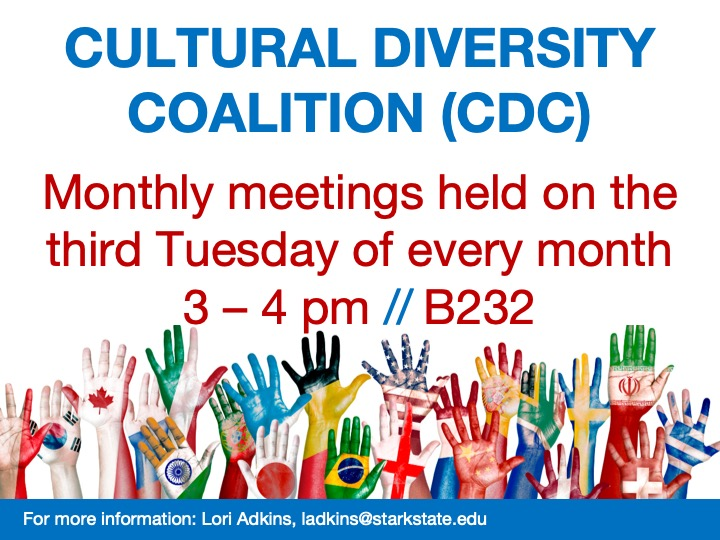 Cultural Diversity Coalition (CDC) meeting @ main campus | B232