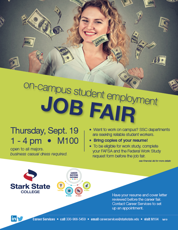 On-Campus Student Employment Fair @ Main campus M100