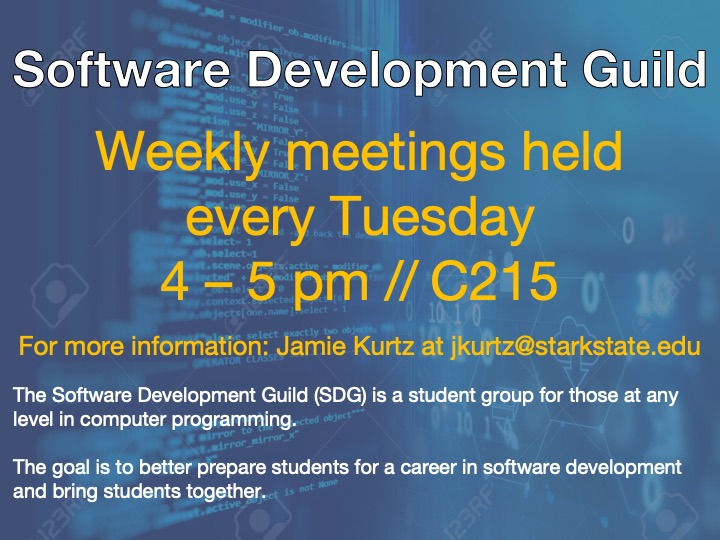 Software Development Guild meeting @ main campus | C215