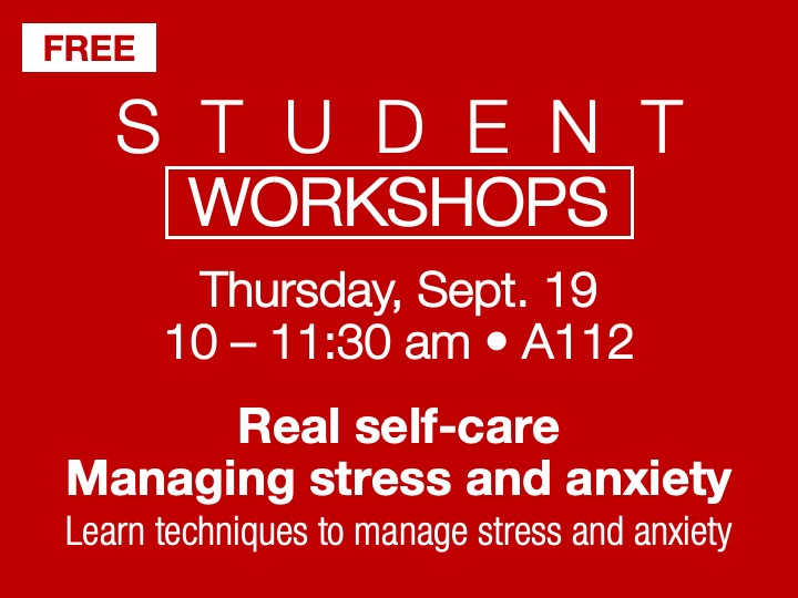 Student workshop | Managing stress and anxiety @ SSC Akron | A112