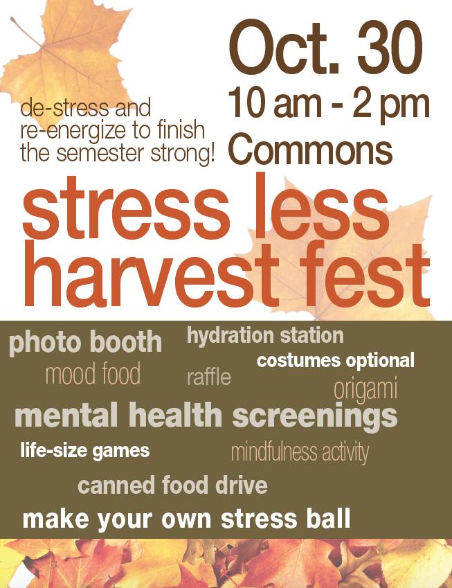 SSC Akron | Stress Less Harvest Fest @ SSC Akron common area