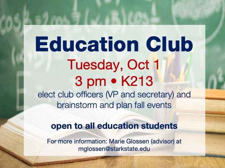 Education club meeting @ main campus | K213