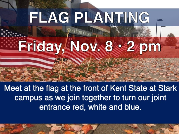 Veterans Day flag planting @ Main campus