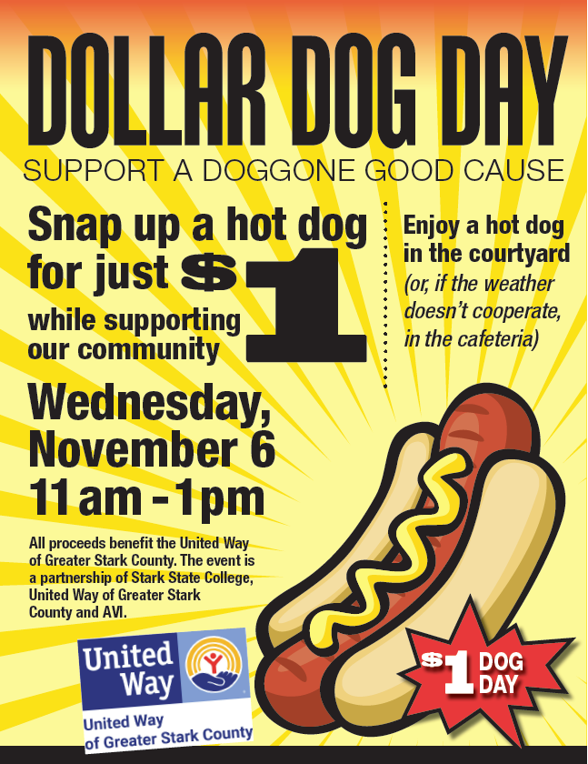 United Way Dollar Dog Day @ Main campus courtyard
