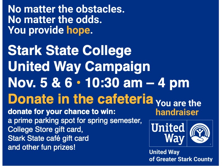 United Way donation days @ Main campus cafeteria