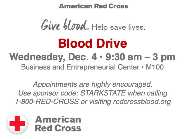 American Red Cross blood drive @ main campus M100