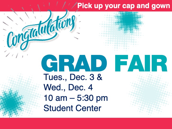 Grad Fair @ main campus cafeteria