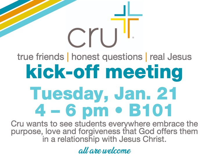 cru kick-off meeting @ main campus | B101