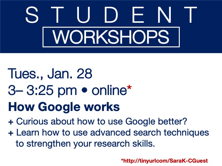 online student workshop - How Google works
