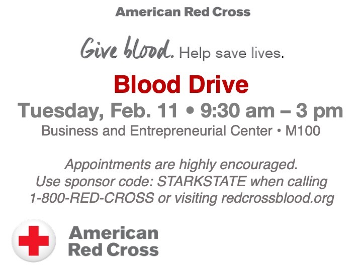 American Red Cross Blood Drive @ main campus | M101