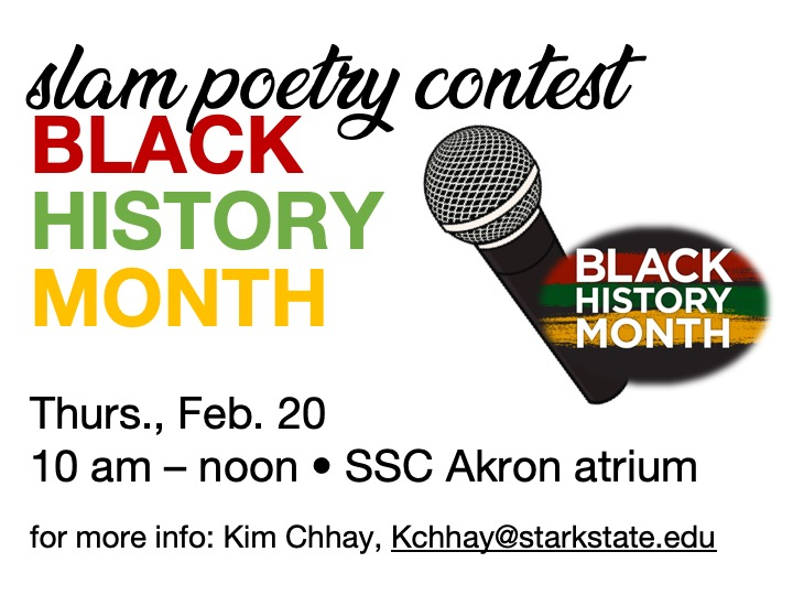 SSC Akron | Slam Poetry contest @ SSC Akron atrium