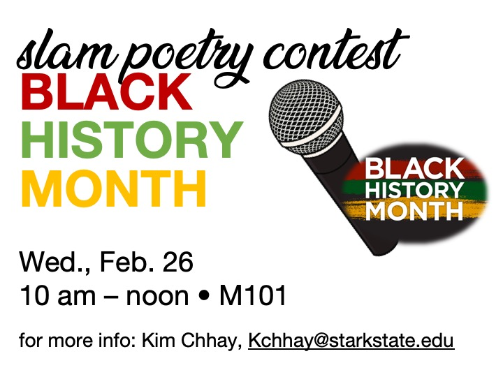 Slam Poetry contest @ main campus | M101