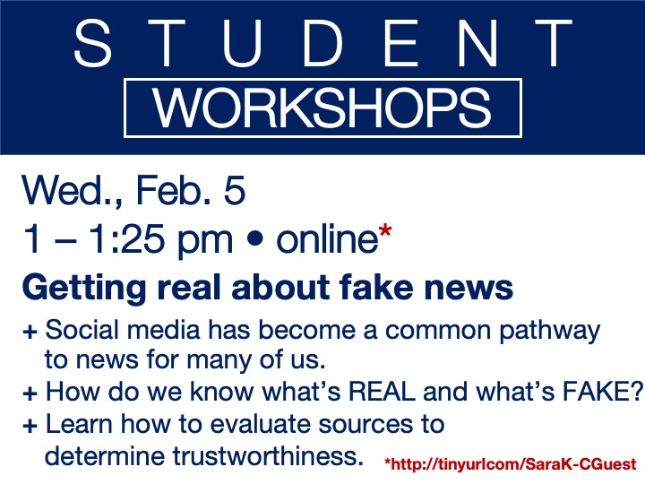 online student workshop - Getting real about fake news