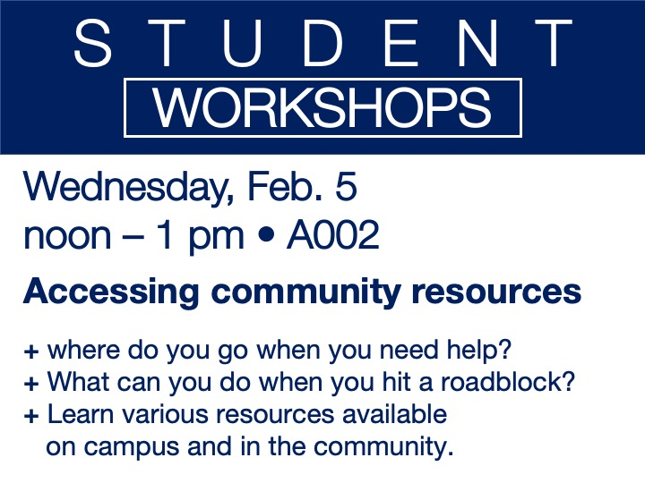 student workshop - accessing community resources @ SSC Akron | A002