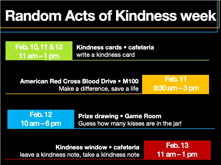 Random Acts of Kindness week @ main campus