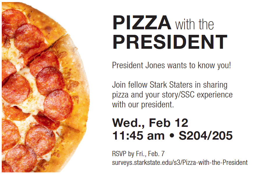 Pizza with the President @ main campus | S204/205