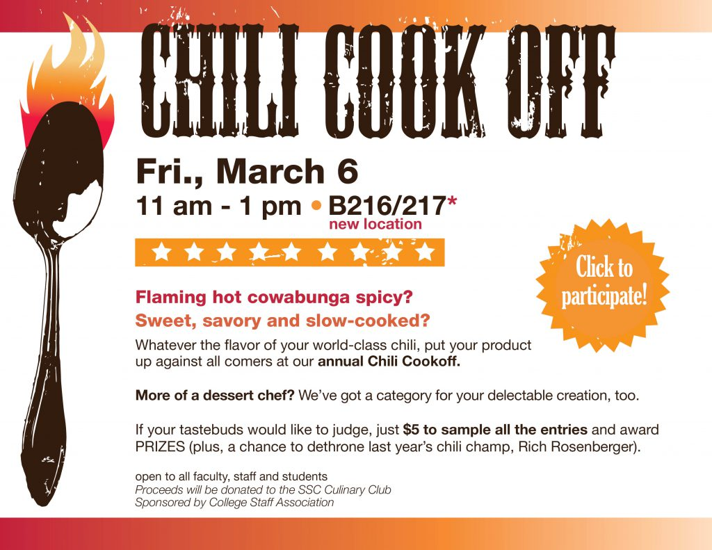Chili Cook Off @ main campus | B216/217