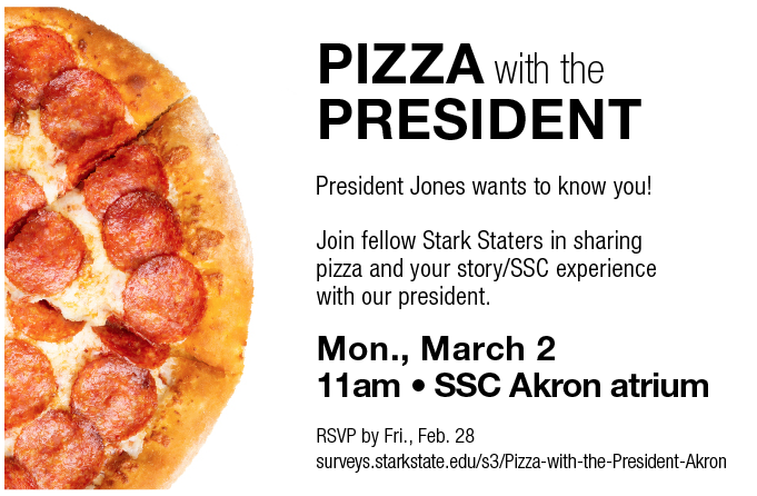 SSC Akron | Pizza with the President @ SSC Akron atrium