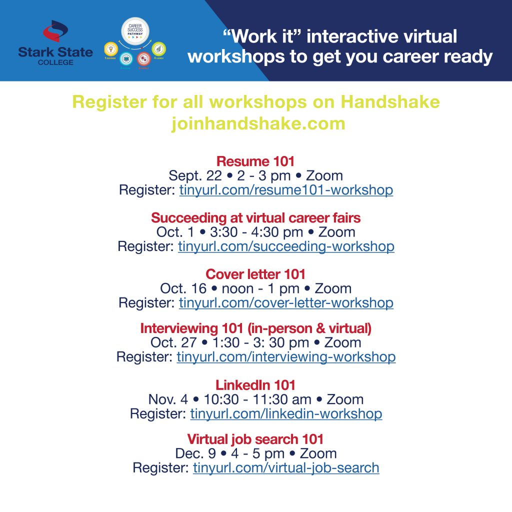 """Work it"" interactive virtual workshops: Succeeding at virtual career fairs"