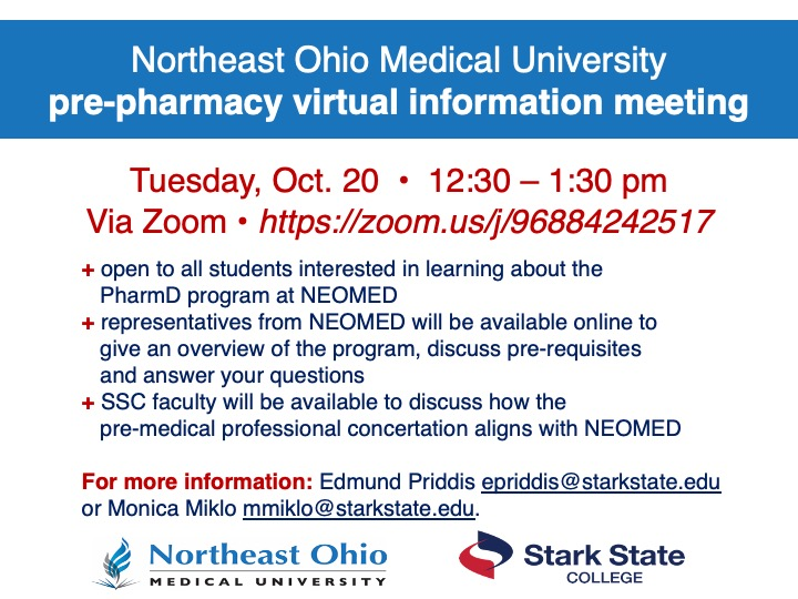NEOMED pre-pharmacy virtual information meeting