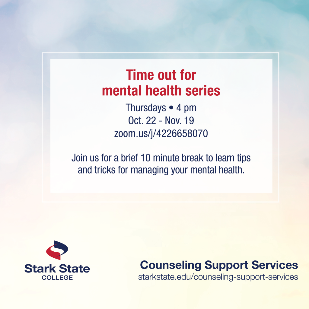 Time out for mental health series